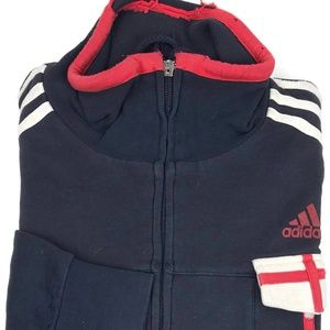 Adidas Full Zip England Sweater Jacket Large Euro